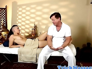 Goth beauty screwed by her masseur