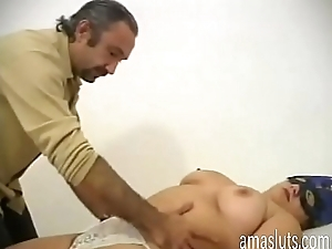 Hairy pussy of an amateur whore
