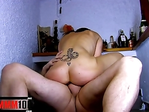 The mother of circa sluts , drinking and brutal fucked in her ass and pussy