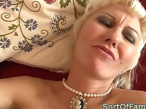 Mature stepmom anally fucked unconnected with young cock