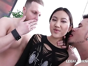 Asian Nympho May Thai increased by Jessica Spielberg get their Lights fucked out!!