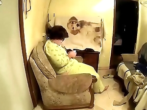 He puts a hidden camera to record his wife to the fullest extent a finally he eats her pussy CRI132