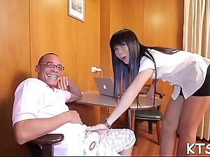 Tranny rides pecker swallows jizz
