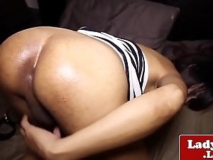 Ladyboy fingers tight ass before jerking