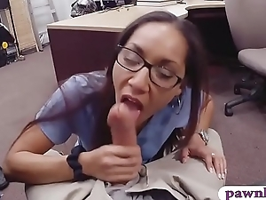 Desperate nurse pounded by pawn keeper convenient the pawnshop