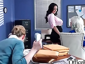 Hot Nasty Cute Girl (Ava Addams &amp_ Riley Jenner) With Beamy Juggs Like Sex In Office vid-06