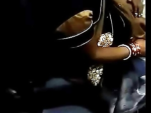 Boobs Cleavage of desi bhabhi in habituate touch by not her Son