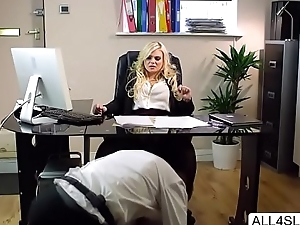 Naughty bigtits Katy Jayne rides bigcock on the office table - all4slut.com