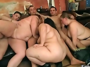 Group BBW orgy at burnish apply bar