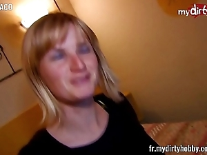 French blonde screwed in B & B room