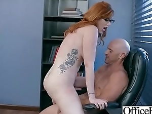 Superb Girl (Lauren Phillips) With Round Beamy Boobs Banged In Office vid-14