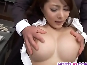 Mei Sawai with big tits is screwed in beaver