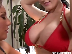 Toys added to Tongues to Make Sophie Dee Cum