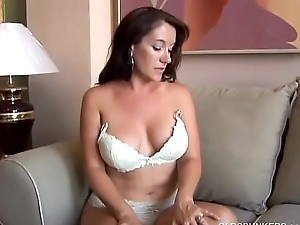 Sexy old spunker with nice big tits fucks her soaking wet pussy