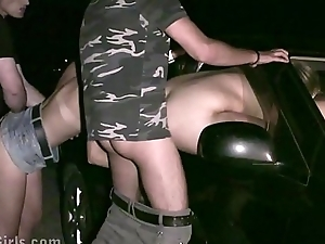 Cum on the face of Krystal Swift, the big tits fame in public sex gang bang orgy