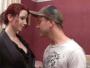Gorgeous nice titted redhead french Julie Valmont banged increased by facialized