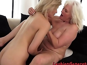 Teen and granny masturbating after oral sex