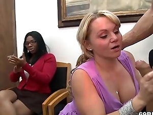 CFNM Blowjob Party Approximately Office