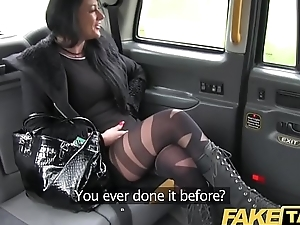 Fake Taxi But escort fucks taxi man on her way to a client