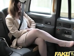 Fake Taxi-cub Office romance revenge with london cabby