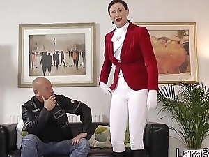 Glamcore milf banged on on all sides of fours